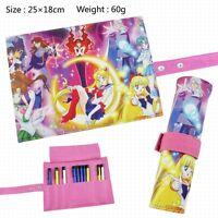 Sailor moon Anime Manga Federtasche Stiftetui Stiftrolle Schlamperrolle 25x18cm