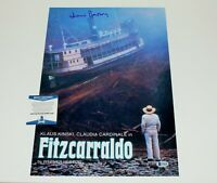 WERNER HERZOG SIGNED 'FITZCARRALDO' 12x18 MOVIE POSTER BECKETT COA KLAUS KINSKI