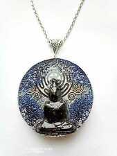 Buddha Colgante Orgonita Orgone Buda Mandala Chakra negro, Lapislázuli, energía.