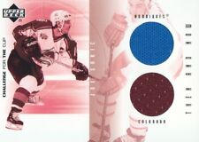 2001-02 UD Challenge for the Cup JERSEY #TN-JS Joe Sakic Colorado Avalanche