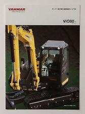 06577 New!! 2014 YANMAR ViO80 Excavator Power Shovel Japanese Catalog Flyer
