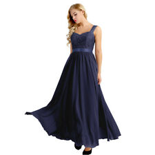 Women Lace-up Formal Long Evening Party Dress Prom Ball Gown Bridesmaids Dresses