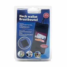 TRAVEL NECK WALLET SECURITY CASH PASSPORT TICKETS HIDE UNDER CLOTHES BACKPACKING