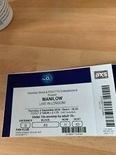 Manilow unused concert tickets
