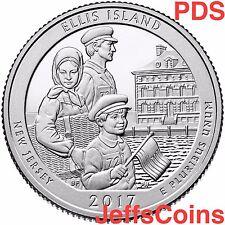 2017 P&D&S Ellis Island New Jersey Liberty Park Quarter U.S.Mint PDS ATB