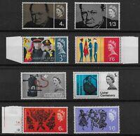 1965 PHOSPHOR SETS-1965 Churchill, S.Army, Lister & Arts. All Fine UM.  Ref:0636