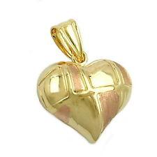 Echte Edelmetall-Anhänger ohne Steine aus Gelbgold mit Liebe & Herzen