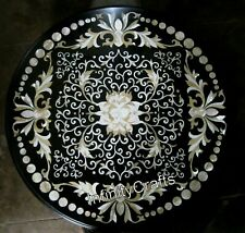 30 Inches Marble Coffee Table Top Handmade Floral Pattern Center Table for Home