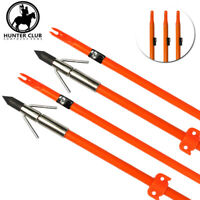 "3x 32"" Archery Bow Fishing Arrows Hunting Bowfishing Compound bow Recurve bow"