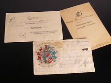 Studentika // Couleurkarte München 1905 // Einladungskarten Nürnberg