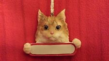 NWT Maine Coon Cat Christmas Ornament Can Be personalized by you