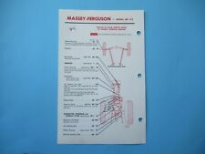 Massey Ferguson MF 135 tractor lubrication service guide chart