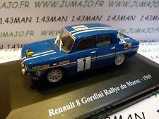 Voiture 1/43 Eligor/ UH Hachettes : RENAULT sport : R 8 gordini Maroc 1969