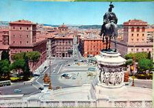 1966 cartolina ROMA Piazza Venezia e Corso Umberto I° edizione P.Marzari
