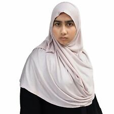 US Seller ~ Hayaa PALE BLUSH Ready-to-Wear Instant Jersey Easy Hijab 2 Face Loop