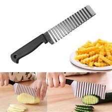 Stainless Steel Potato Chip Crinkle Wavy Cutter Vegetable Fruit Slicer Knife