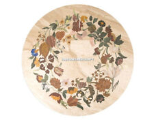 Marble Decorative Floral Arts Coffee Table Top Inlaid Living Hallway Stone H5161