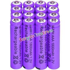 16x AAA battery batteries Bulk Nickel Hydride Rechargeable NI-MH 1800mAh 1.2V Pr
