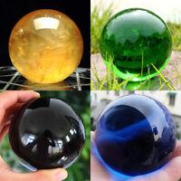 40MM Asian Rare Natural Black Obsidian Sphere Crystal Ball Healing Stone Quartz