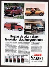 1985 GMC Safari Van Vintage Original Print AD - 4 models photo French Canada