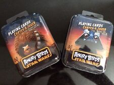 2 Star Wars Playing Cards Angry Birds collectible tin (chewbacca + darth vader)