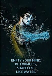 Bruce Lee Motivational Inspirational Canvas Poster Exclusive Art  NEW LIKE WATER