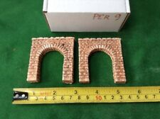2x N scale tunnel portals rough stone style -single Track Portals, Pre Coloured