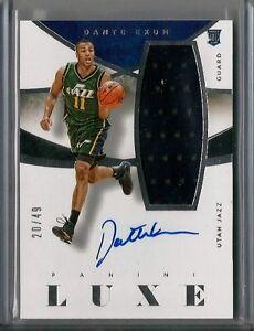 2014/15 Panini Luxe Dante Exum Auto Rookie Jersey Card #20/49 Utah Jazz