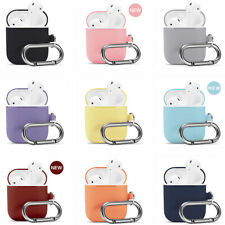 Silicone Case Cover with Keychain Protective Skin for Apple Airpods 1 2nd Gen