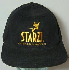 Vintage 1990s Starz! Starz Encore Network Movie Channel Cable Snapback Hat Cap