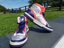 Rare Adidas Ecstasy Sleek Series Hi Top Trainers Silver Pink Purple UK 4