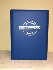 TWO (2) Toploader Binders with 30 Toploader Pages Ea. by The Sportstech Co BLUE