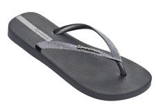 Ipanema Women`s Flip Flops Glitter II Sandal Gray / Silver Brazilian Sandals NWT