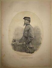 1862 GENERALE SIRTORI Giuseppe litografia Terzaghi Monticello Brianza sped mille