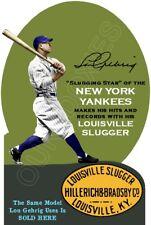 Lou Gehrig 1930's Louisville Slugger Die Cut Store Counter Standup Sign Yankees