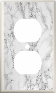 IMAGE OF GRAY MARBLE LIGHT SWITCH COVER  PLATE  OR OUTLET YOU PICK  SIZE