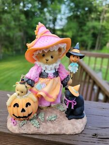 Signed Cherished Teddies Chrislove Exclusive Halloween Witch Charice 4043198