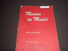 Vtg. Gospel Hymnal Sheet Music Booklet, Manna in Music, Christian, 1947