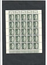 Deutsches Reich, 1942 Michelnr: 799 B **, kompletter Bogen **, Katalogwert € 50