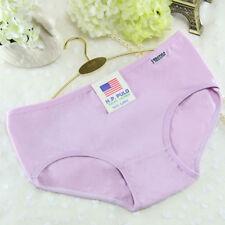 Women Solid Soft Cotton Seamless Underpants Lingerie Briefs Underwear Panties