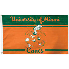 Miami Canes Throwback Vintage Large Outdoor Flag