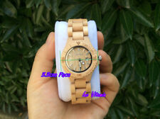 BEWELL Branded Women Lady's Natural Maple Wooden Watch Water Resistant GF Gift