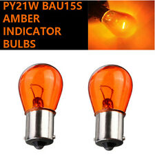 2x PY21W BAU15s 581 12v Amber/Orange Indicator Light Car Bulbs (Off-Set Pins)