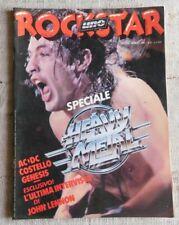 Rockstar n.6 giugno 1981 AC/DC, Elvis Costello, Genesis,  Genesis, Lennon ...