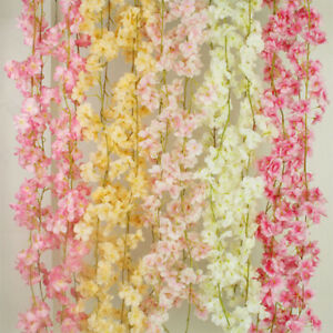 135 Heads Artifical Cherry blossoms  Flowers Ivy Hanging Garland Fake Plants Wed