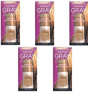 EVERPRO Gray Away Temporary Root  Concealer Lightest BROWN/ Med BLONDE -Lot Of 5