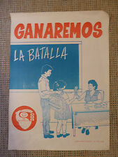 """Original Cuban Educational poster published by the CDR """"We will win the battle"""""""