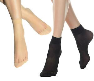 10/20/40 Pairs Women Nylon Elastic Short Ankle Sheer Stockings Silk Short Socks