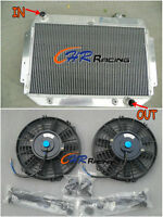 Aluminum Radiator + 2 FANS HOLDEN Kingswood HG HT HK HQ HJ HX HZ V8 Chev engine
