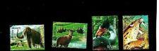 Reeks Franse postzegels. Pre historische dieren Nr. 4175 tot 4178 - Gediend 2008